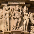 Kandariya Mahadeva Hindu Temple at Khajuraho in the Madhya Pradesh region of India. — Stock Photo