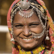 Stock Photo: Portrait of a India Rajasthani woman