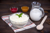 Cottage cheese. Curd — Stock Photo