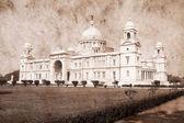 Victoria Memorial - Kolkata ( Calcutta ) - India. Artwork in retro style. — Stock Photo