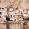 Pushkar, India. Artwork in retro style. — Stock Photo