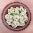 Stock Photo: Traditional russian dish - pelmeni