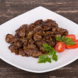 Fried chicken livers — Stock Photo #33055115