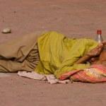 Постер, плакат: Homeless man in Haridwar India