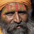 Stock Photo: Indisadhu (holy man). Jaisalmer, Rajasthan, India.