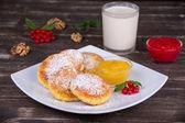 Cheese pancakes — Stock Photo