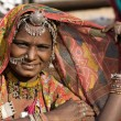 Portrait of a India Rajasthani woman — Stock fotografie #33452315