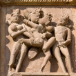 Erotic temple in Khajuraho, India. — Stock Photo