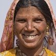 Portrait of an Indian woman, Pushkar, Rajasthan, India — Stock Photo