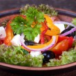 Fresh vegetable greek salad, close up — Foto Stock