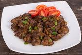 Chicken liver stir fry — Stock Photo