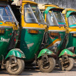 Stock Photo: Auto rickshaw taxis in Agra, India.