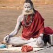 Indian sadhu (holy man). Varanasi, Uttar Pradesh, India. — Stock Photo #34073829