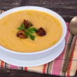 Foto Stock: Apple pumpkin cream soup