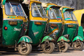 Auto rickshaw taxis in Agra, India. — Stock Photo
