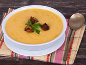 Apple pumpkin cream soup — Fotografia Stock