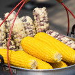 Corn in a saucepan on the market in Thailand — Stock Photo