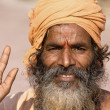 Indian sadhu (holy man). Devprayag, Uttarakhand, India. — Stock Photo