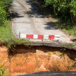 Break of asphalt road in island Koh Chang, Thailand — Stock Photo