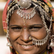 Portrait of a India Rajasthani woman — Stok fotoğraf