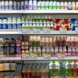 Stok fotoğraf: Dairy products at supermarket in Bangkok, Thailand.