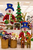 Rows of Christmas toys in a supermarket Siam Paragon in Bangkok, Thailand. — Stock Photo