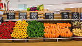 Vegetables in the supermarket Siam Paragon in Bangkok, Thailand. — Stock Photo