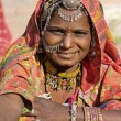 Portrait of a India Rajasthani woman — Stockfoto #35900009