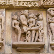 Постер, плакат: Fragment of the famous erotic temple in Khajuraho Madhya Pradesh State India
