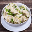 Traditional russian dish - pelmeni — Stock Photo