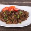 Chicken liver stir fry — Stock Photo