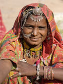 Portrait of a India Rajasthani woman — Foto Stock