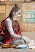 Indian sadhu (holy man). Varanasi, Uttar Pradesh, India. — ストック写真
