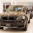 BMW X3 xDrive 20d car on display at the Siam Paragon Mall in Bangkok, Thailand. — Stock Photo #36378917