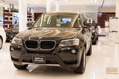 BMW X3 xDrive 20d car on display at the Siam Paragon Mall in Bangkok, Thailand. — Stock Photo