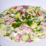 Vegetable soup ( okroshka ) — Stock Photo #36799239