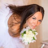 Portrait happy bride — Stock Photo