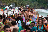 Full Moon Party in Koh Phangan, Thailand. — Stock Photo