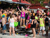 Full Moon Party in Koh Phangan, Thailand. — Fotografia Stock