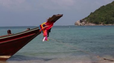 Traditional long tail boat, Thailand. — Stock Video