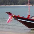 Stock Video: Traditional long tail boat, Thailand.