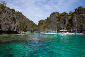 Tropical beach in El Nido, Philippines — Stockfoto