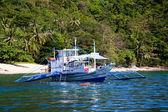 Filipino boat in the sea, El Nido, Philippines — Foto Stock