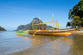 Filipino boat in the sea, El Nido, Philippines — Stock Photo