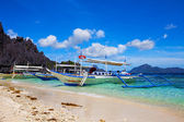 Filipino boat in El Nido, Philippines — Foto Stock