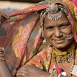 Portrait of a India Rajasthani woman — Stock Photo #43653471