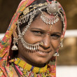 Portrait of a India Rajasthani woman — Stockfoto
