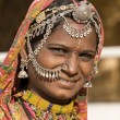 Portrait of a India Rajasthani woman — Stock Photo #43653485