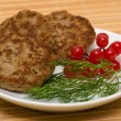 Fried cutlet — Stock Photo #43653887