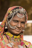 Portrait of a India Rajasthani woman — Zdjęcie stockowe